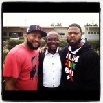 Linking w/ pastors is so important. Me and Truth w/ Abuja's own Pastor Polycarp Gbaja!!!