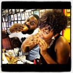 Ambassador and Jessica Reedy on South St in Philly! Of course we had to get her a cheesesteak!!!